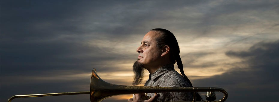 MUSIC | One of the world's preeminent jazz innovators, trombonist and seashellist, Steve Turre, returns to dazzle the Bach crowd.