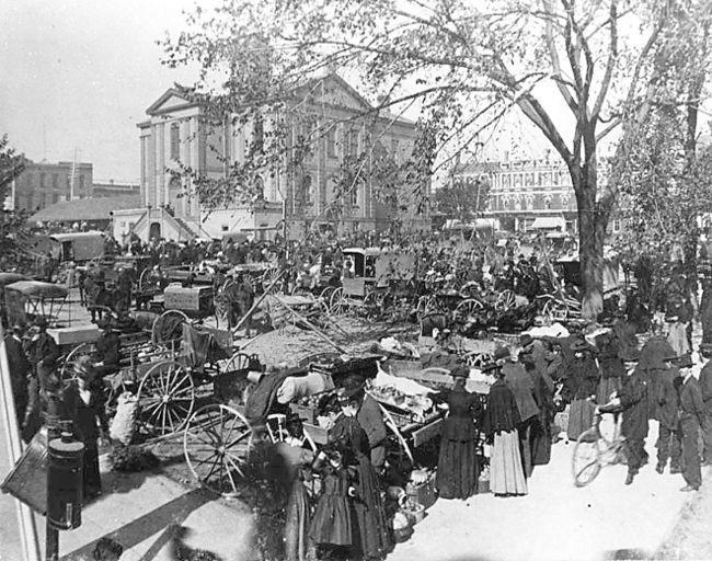 Market Day at Market Square in Brantford