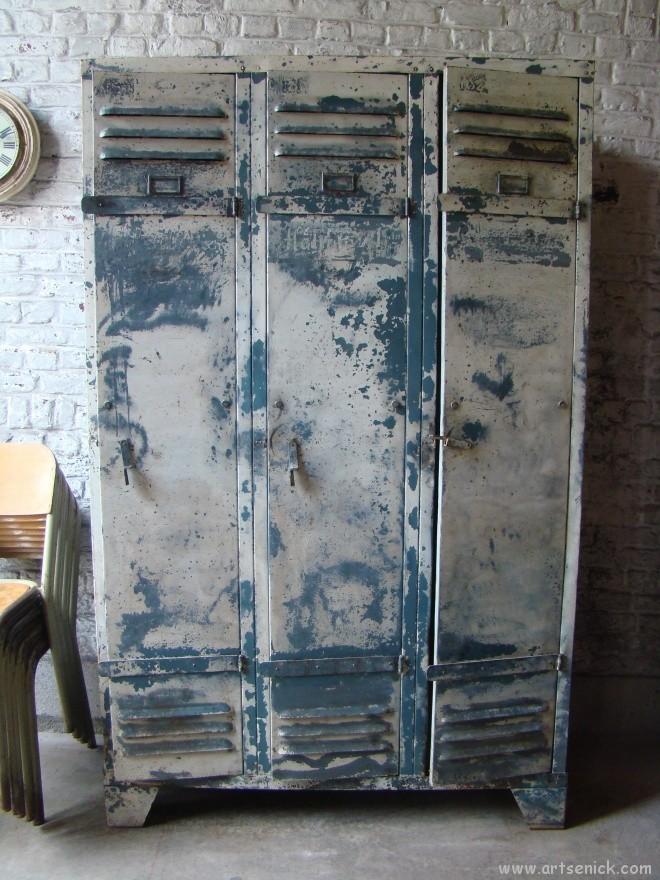 Ancien Vestiaire Rivet Mtallique Datelier Des Annes 50