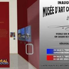 Inauguration du musée d'art contemporain VR 3D