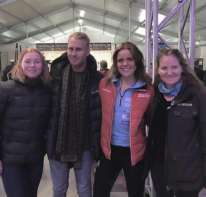 Lovisa Modig /Sur la photo , 2eme à droite, la championne suédoise 2eme à droite photo @Lise Bretondoise