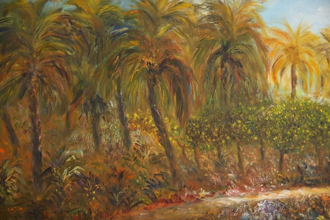Christian Bruley - Palmiers et citronniers à Menton