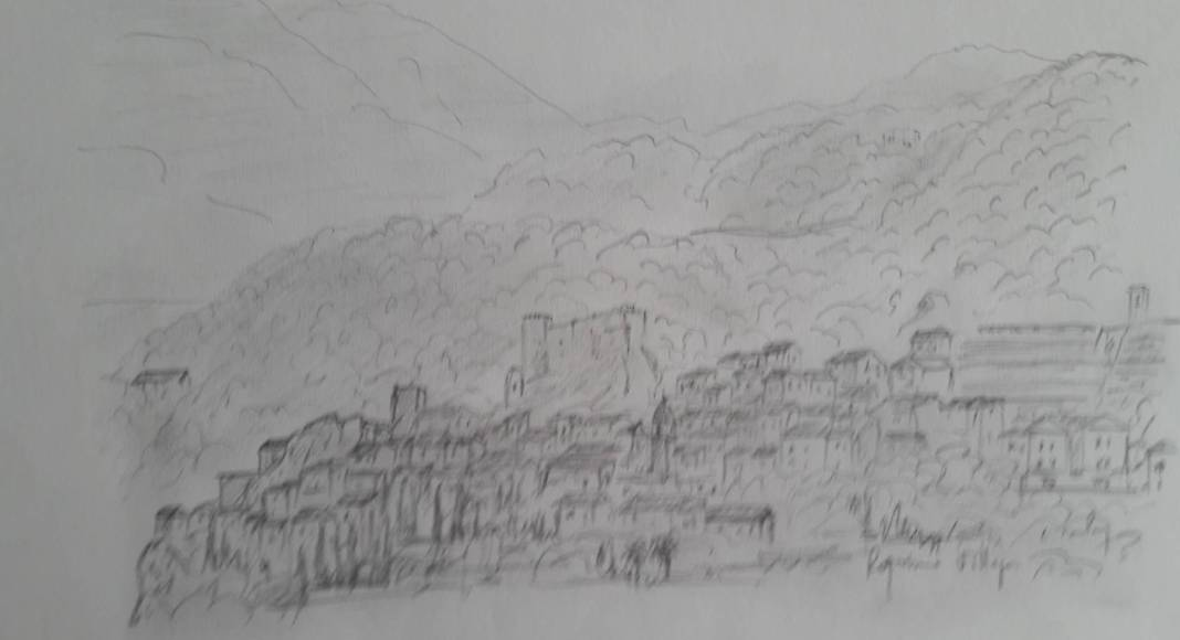 Christian Bruley - Roquebrune Village 24 x 31