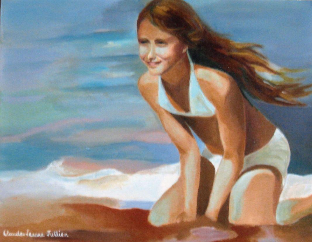 Claude-Jeanne Jullien A la plage