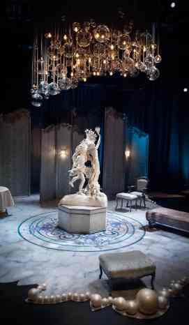 Tartuffe Apollo and Daphne, onstage with the finished set
