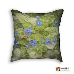 Pillow, forget-me-not