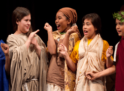 Student performers in a CTC production.