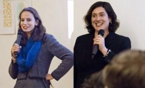Nora Abousteit (L) and Anastasia Goodman (R) - courtesy Eleanor Templeton