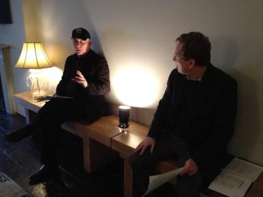John McCann and Richard Evans prepare.