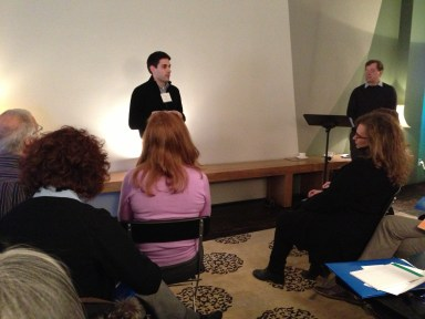 Charlie Miller of Denver Center Theatre Company welcomes the group