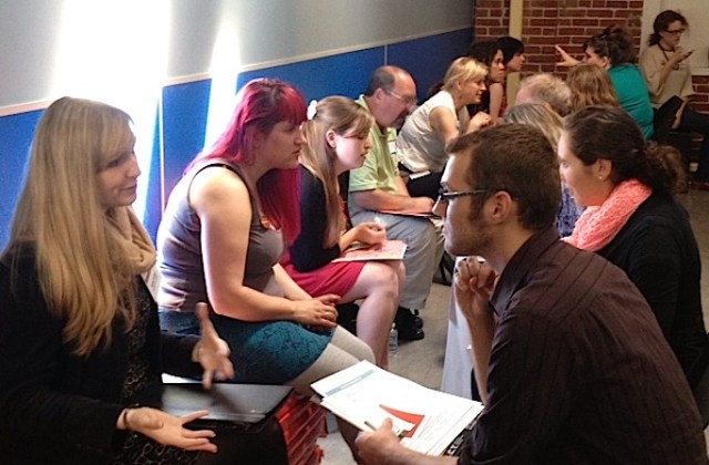 Attendees of the 2013 Theatre Bay Area conference during a breakout session.
