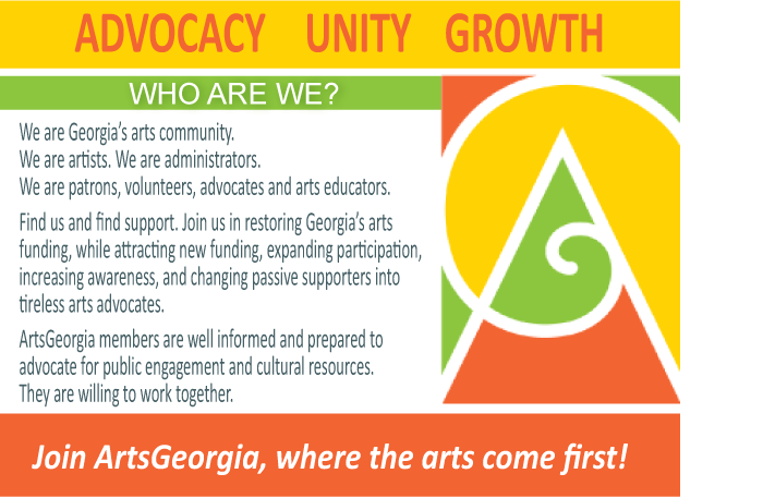 ArtsGeorgia Advocacy Unity Growth. We are Georgia's arts community.