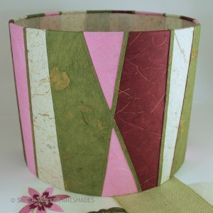 Pinks and greens lampshade