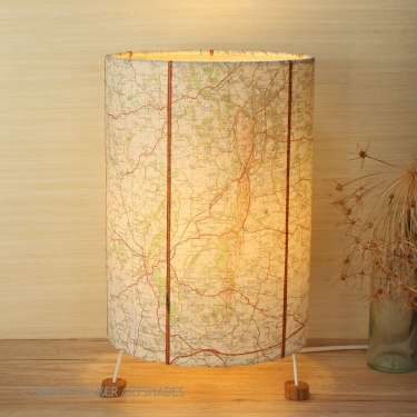 Malvern map lamp