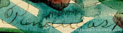 Signature by: PRENDERGAST, Maurice Brazil