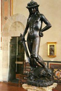 The bronze David
