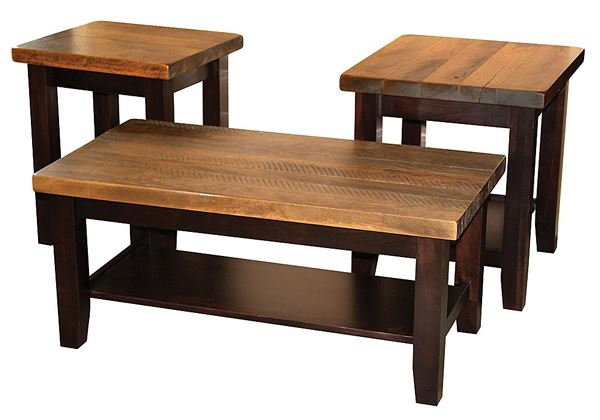 plank contemporary coffee end sofa table amish oak or cherry table hardwoods