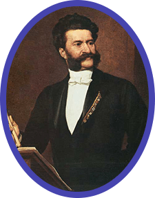 Johann Strauss Jr., looking more dignified than we might expect from someone who created so much havoc on the dance floor!