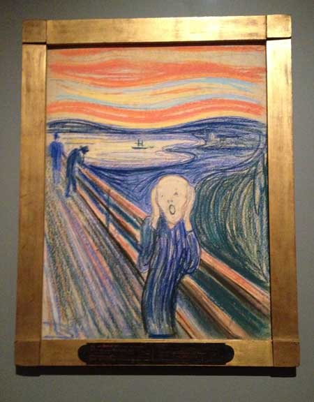 "Edvard Munch, ""The Scream,"" 19TK Sold at Sotheby's in 20TK for $TK million Photo by Lee Rosenbaum"