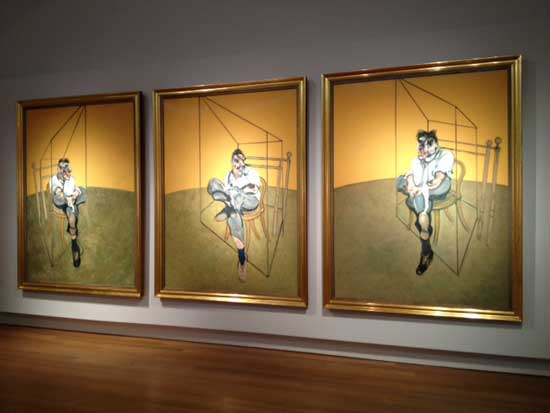 """Francis Bacon, """"Three Studies of Lucian Freud,"""" 1969 Presale estimate: In excess of $85 million Photo by Lee Rosenbaum"""