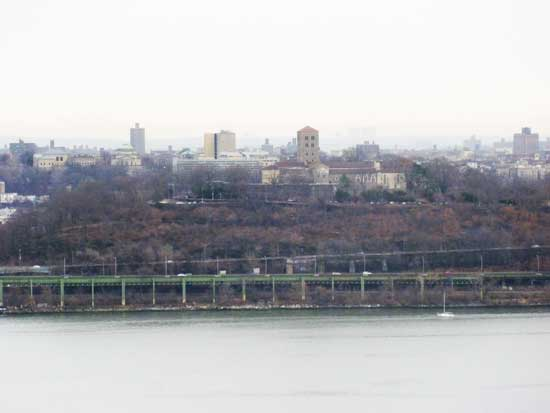 The view of The Cloisters from St. Peter's University Photo by Lee Rosenbaum