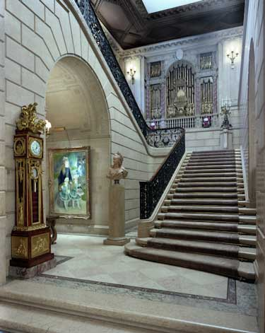 Soon to be opened: Staircase to second floor of Frick mansion Photo by Michael Bodycomb