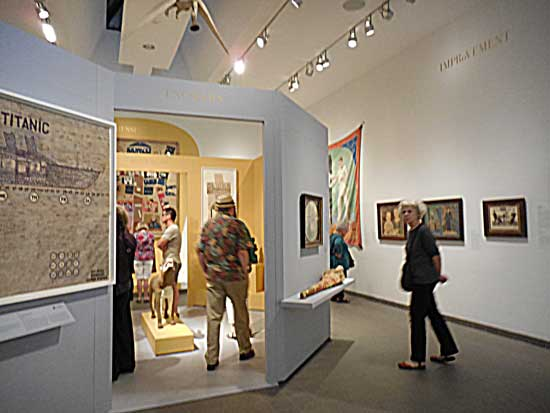 On the upswing: the well-attended American Folk Art museum on Aug. 14 Photo by Lee Rosenbaum