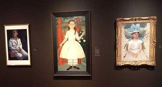 Left to right, works by Samuel Joseph Brown, Samuel Miller, Mary Cassatt Photo by Lee Rosenbaum
