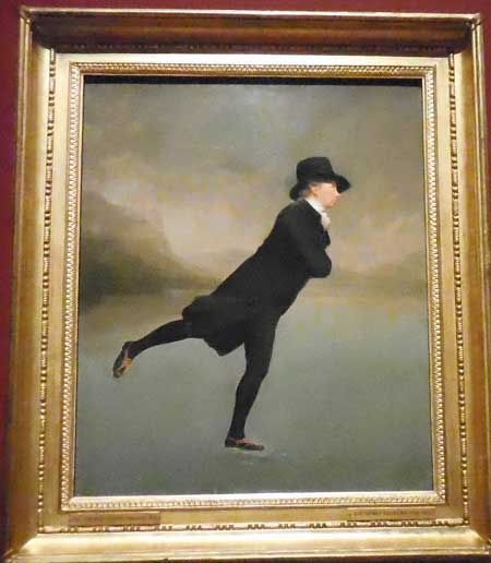 "Sir Henry Raeburn, ""Reverend Robert Walker Skating on Duddingston Loch,"" ca. 1795 Photo by Lee Rosenbaum"