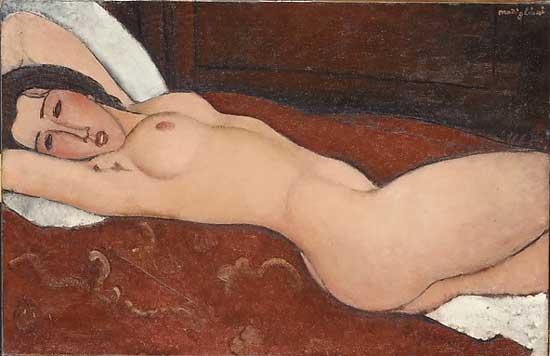 "Modigliani, ""Reclining Nude,"" 1917, Metropolitan Museum"