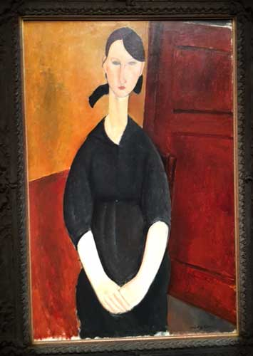 "Modigliani, ""Paulette Jourdain,"" ca. 1919, sold for $42.8 million Photo by Lee Rosenbaum"