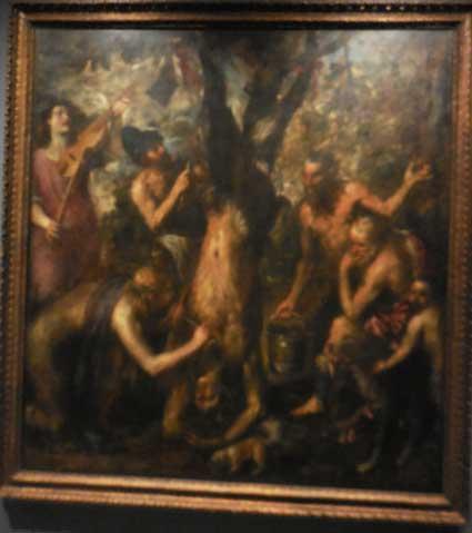 "Titian, ""The Flaying of Marsyas,"" probably 1570s, Archidiocese Olomouc, Archiepiscopal Palace, Picture Gallery, Kroměříž"