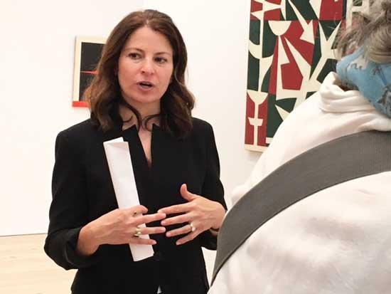 Whitney ex-curator Dana Miller at the Herrera show Photo by Lee Rosenbaum