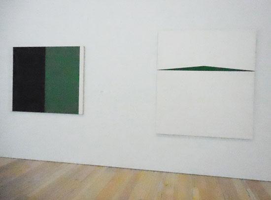 "L: John Mc R: Herrera, ""Blanco y Verde,"" 1959 Photo by Lee Rosenbaum"