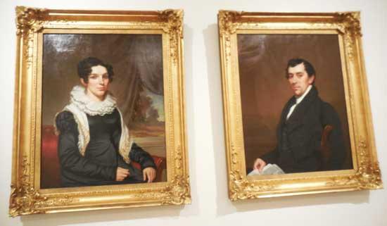"""Samuel Lovett Waldo, """"David Leavitt and Maria Clarissa Leavitt,"""" c. 1820-25"""