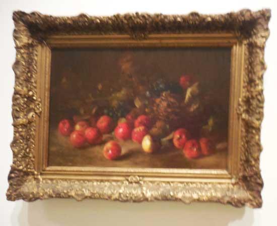 "Charles Ethan Porter, ""Still Life with Fruit Basket,"" 1878"