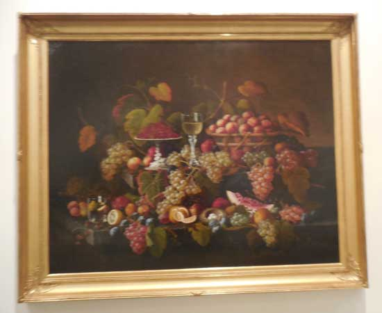 "Severin Roesen, ""Still Life with Fruit,"" c. 1860"