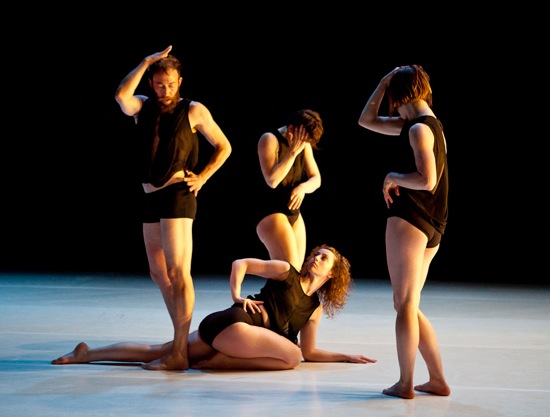 Standing (L to R), Casella, Poerstel-Taylor, Baldwin; on floor, Smith. Photo: Yi-Chun Wu