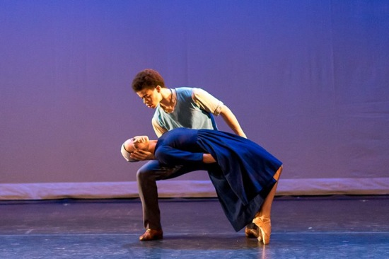 Amanda Lynch and Steven Melendez in Dark Elegies. Photo: Darial Sneed