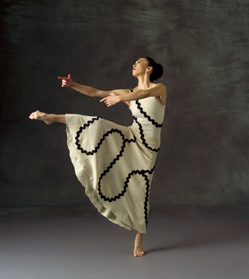 Miki Ohara costumed for Martha Graham's Errand into the Maze. Photo: John Deane