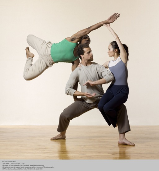 (L to R) Antonion Brown, Talli Jackson, and I-Ling Liu of the Bill T. Jones-Arnie Zane Dance Company, Photo: Lois Greenfield
