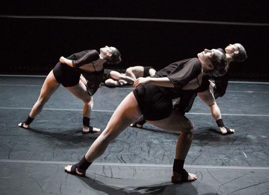 L to R: Francesca Romo, Troy Ogilvie, and Caroline Fermin in Blush. Photo: Yi-Chun Wu