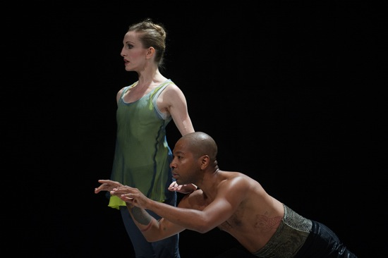 Wendy Whelan and Kyle Abraham in Abraham's The Serpent and the Smoke. Photo: Christopher Duggan