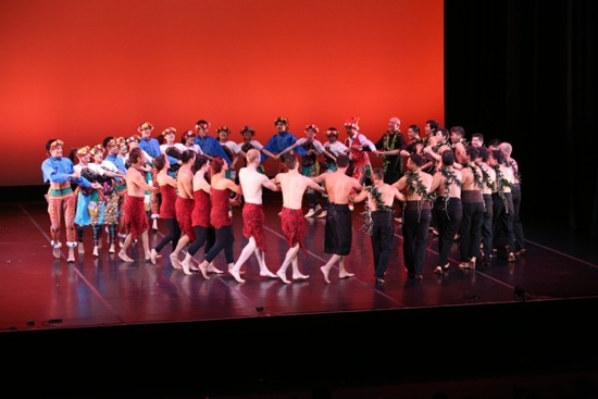 Members of all three companies join to end the opening-night program. Photo: Gregory Yamamoto