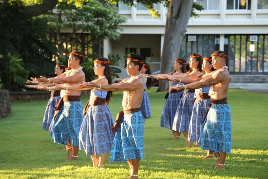 Hula performed at the Festival's Welcoming Ceremony. Photo: Gregory Yamamoto