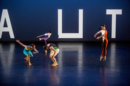 (L to R): Christopher Williams, Alexandra Berger, Timothy Ward, and Jin-Ju Song-Begin in Aubade. Photo: Marina Levitskaya