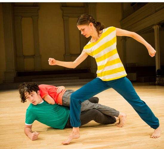 (L to R): Stuart Singer, Netta Yerushalmy, and choreographer Joanne Kotze. Photographer: Ian Douglas
