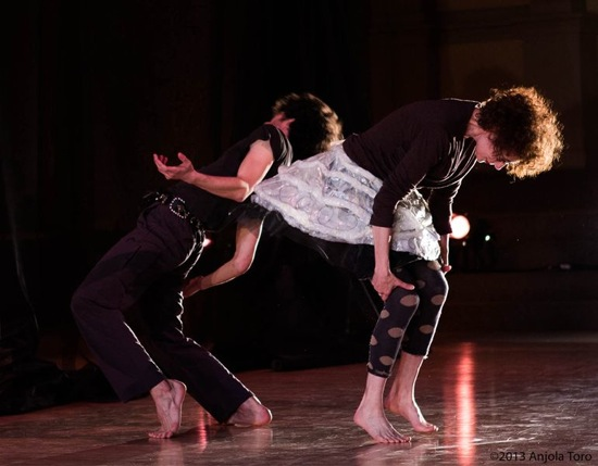 Vicky Shick's Everything You See. Olsi Gjeki (L) and Wendy Perron. Photo: Julieta Cervantes