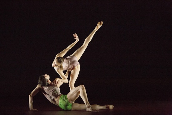 Alvaro Dule and Anna Nowak in Wayne McGregor's Atomos. Photo: Ravi Deepres