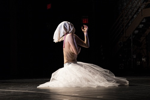 Miki Orihara in Martha Clarke's Nocturne. Photo: Juan Vargas/Ellen Jacobs Associates